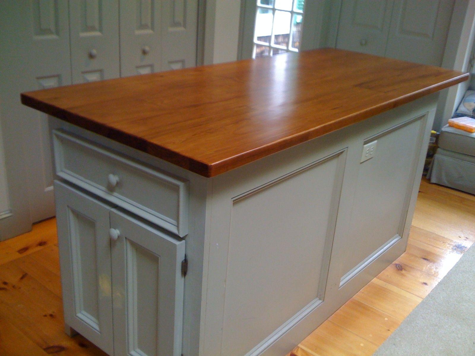 Handmade Custom Kitchen Island Reclaimed Wood Top By Cape