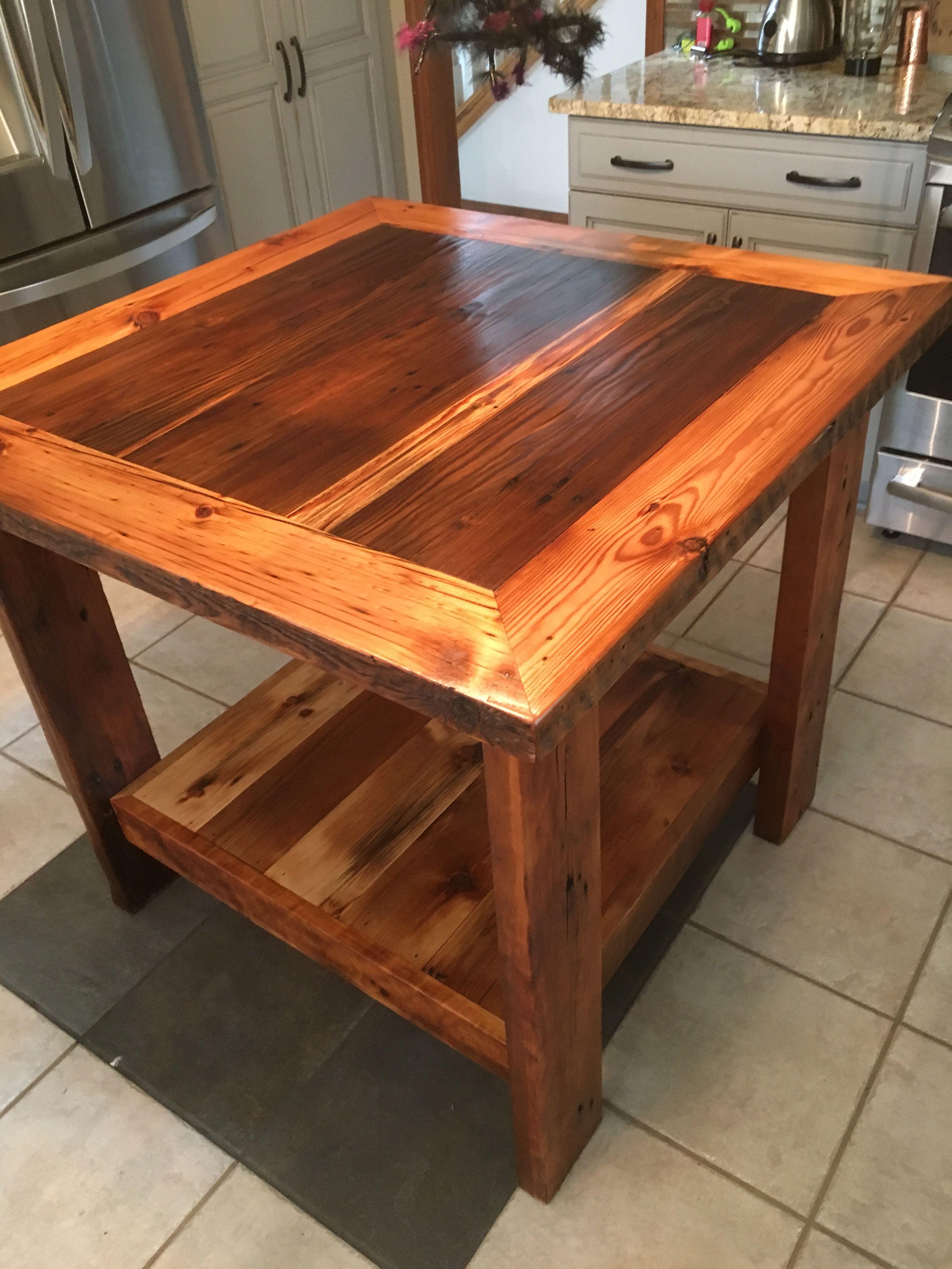Custom Barn Wood Kitchen Island By Barn Wood Studio