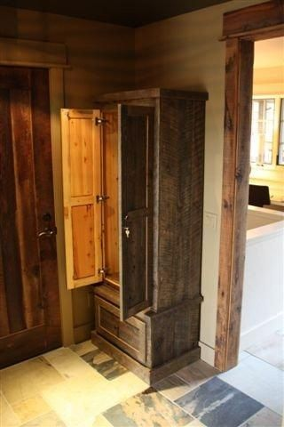 Custom Reclaimed Lumber Gun Cabinet By Toms Custom