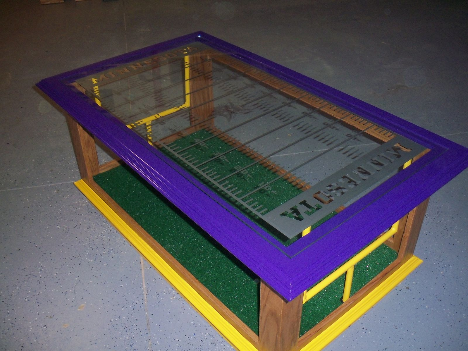 Custom Nfl Coffee Table By Woods By Designs