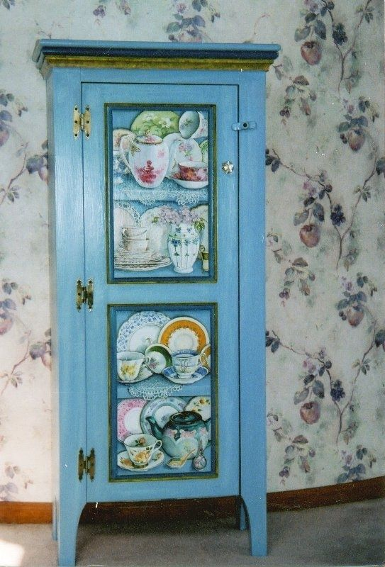 Hand Made Cabinet Painted With Trompe LOeil Shelves