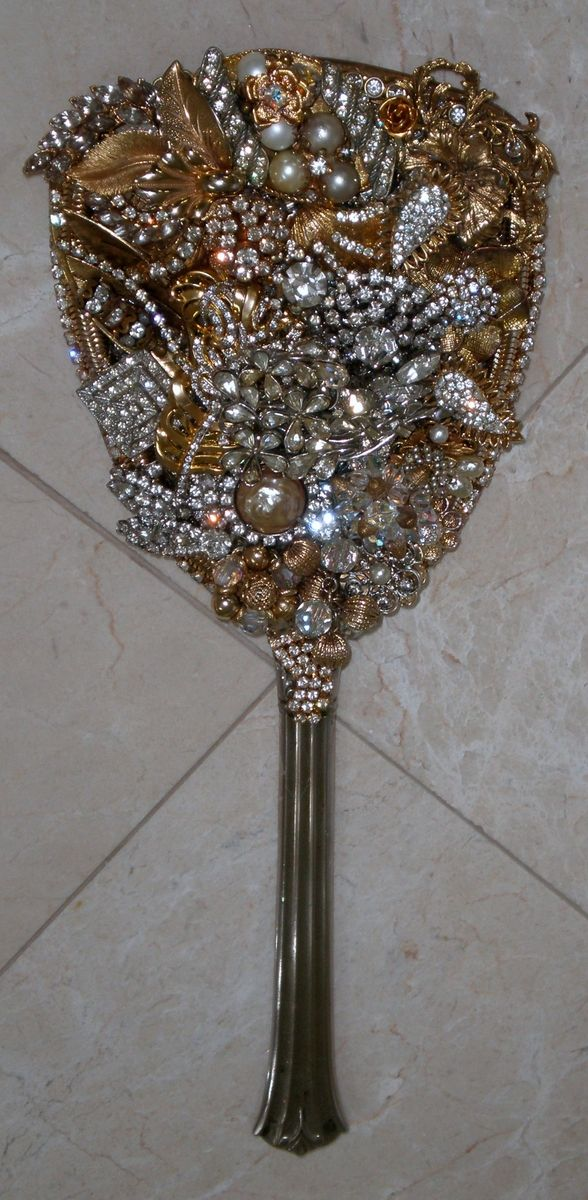 Hand Made Jeweled Antique Mirrors By Arc Designs By Ellen