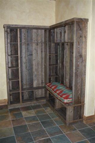 Custom Reclaimed Wood Entry Foyer Bench By Tom S Custom