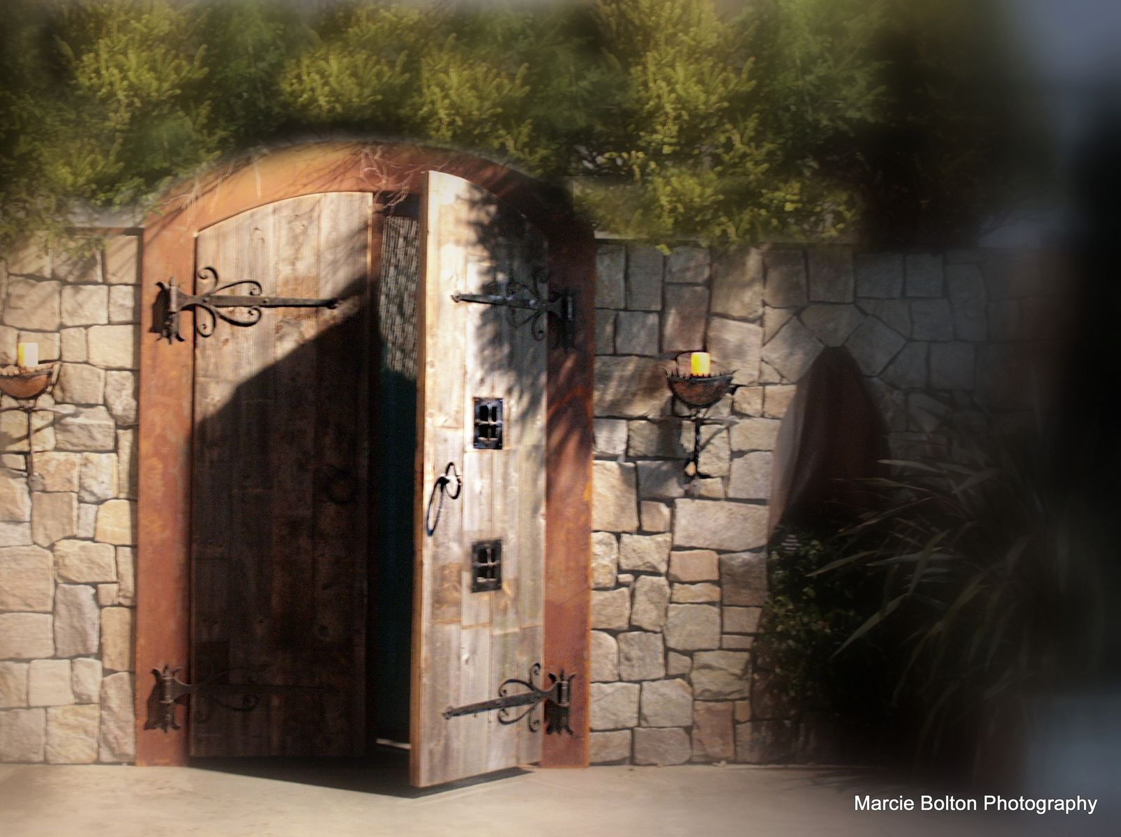 Hand Made Custom Arched Castle Doors By Nops Metalworks