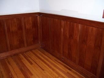 Custom Mahogany Wainscot And Trim By Yeager Woodworking