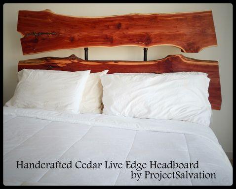 Handmade Live Edge Headboard Industrial Headboard