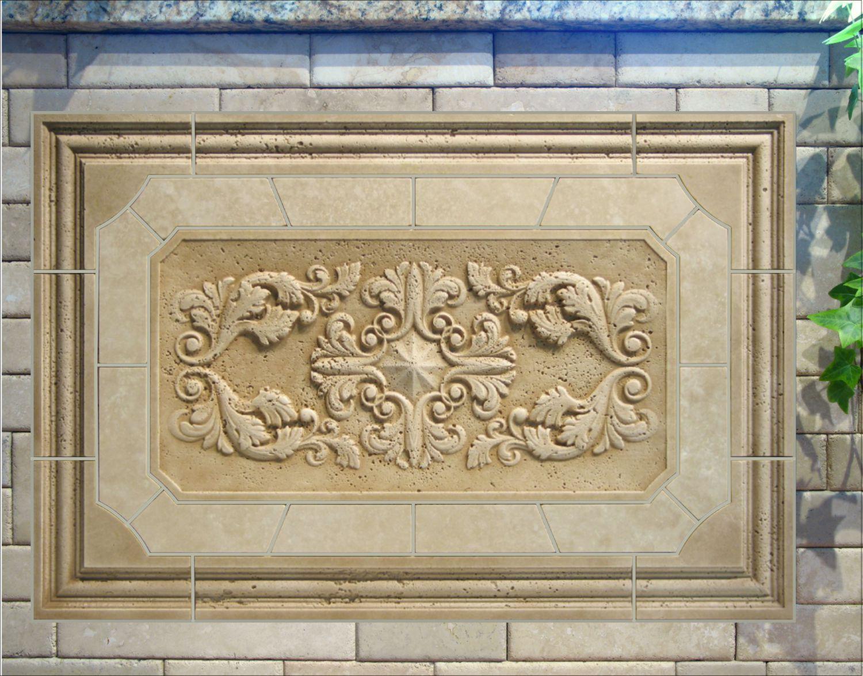 back splash relief carved stone tile