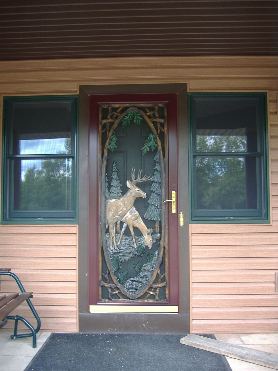 Hand Crafted Storm Door Inserts By Boards To Branches