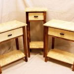 Hand Crafted Curly Maple And Walnut Tables By Auestad