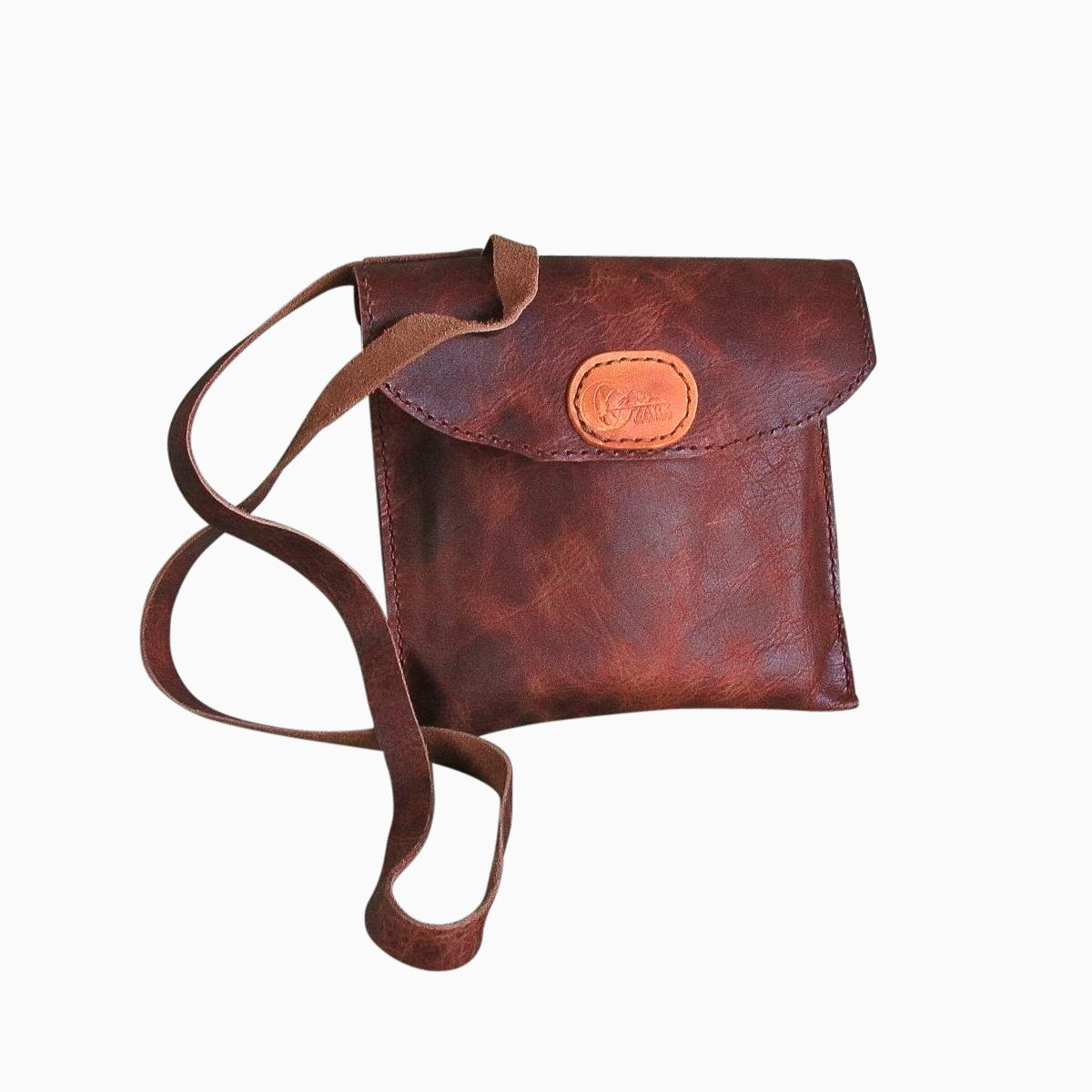Buy A Hand Made Small Leather Travel Bag Cross Body Design