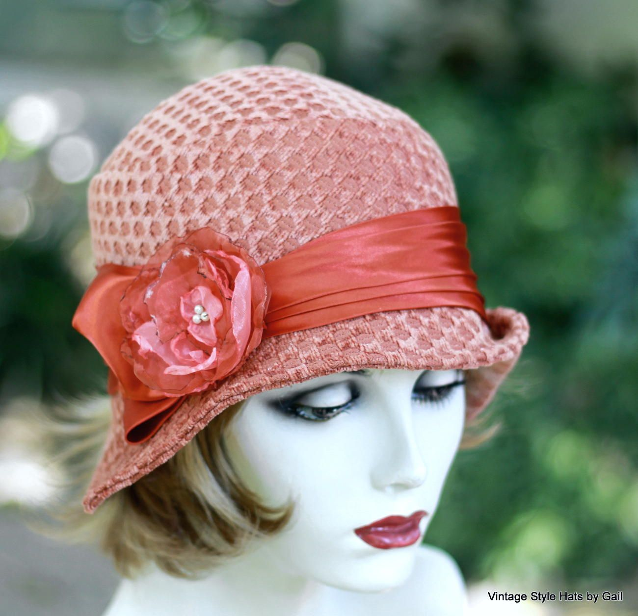 Hand Crafted Vintage 1920S Cloche Hat Vintage Style In
