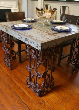 Hand Made New Orleans Dining Room Table Made From