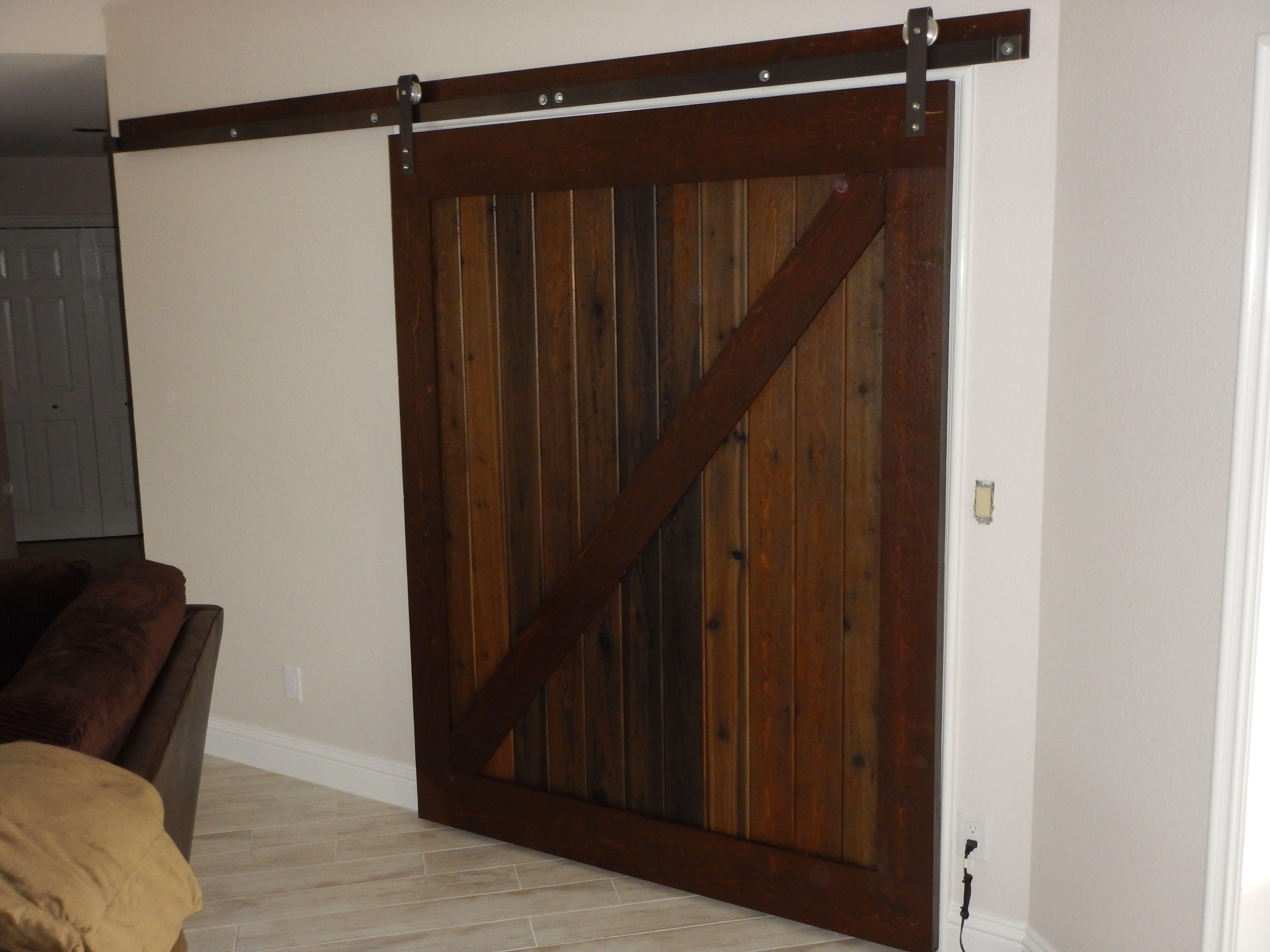 Custom Made Stressed Wood Rustic Barn Door By Naples