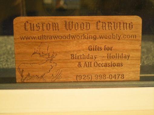 Custom Made Business Cards by Woodworking | CustomMade.com