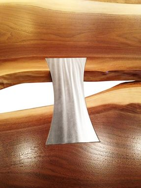Hand Crafted Bow Tie Dining Table Shown In Black Walnut