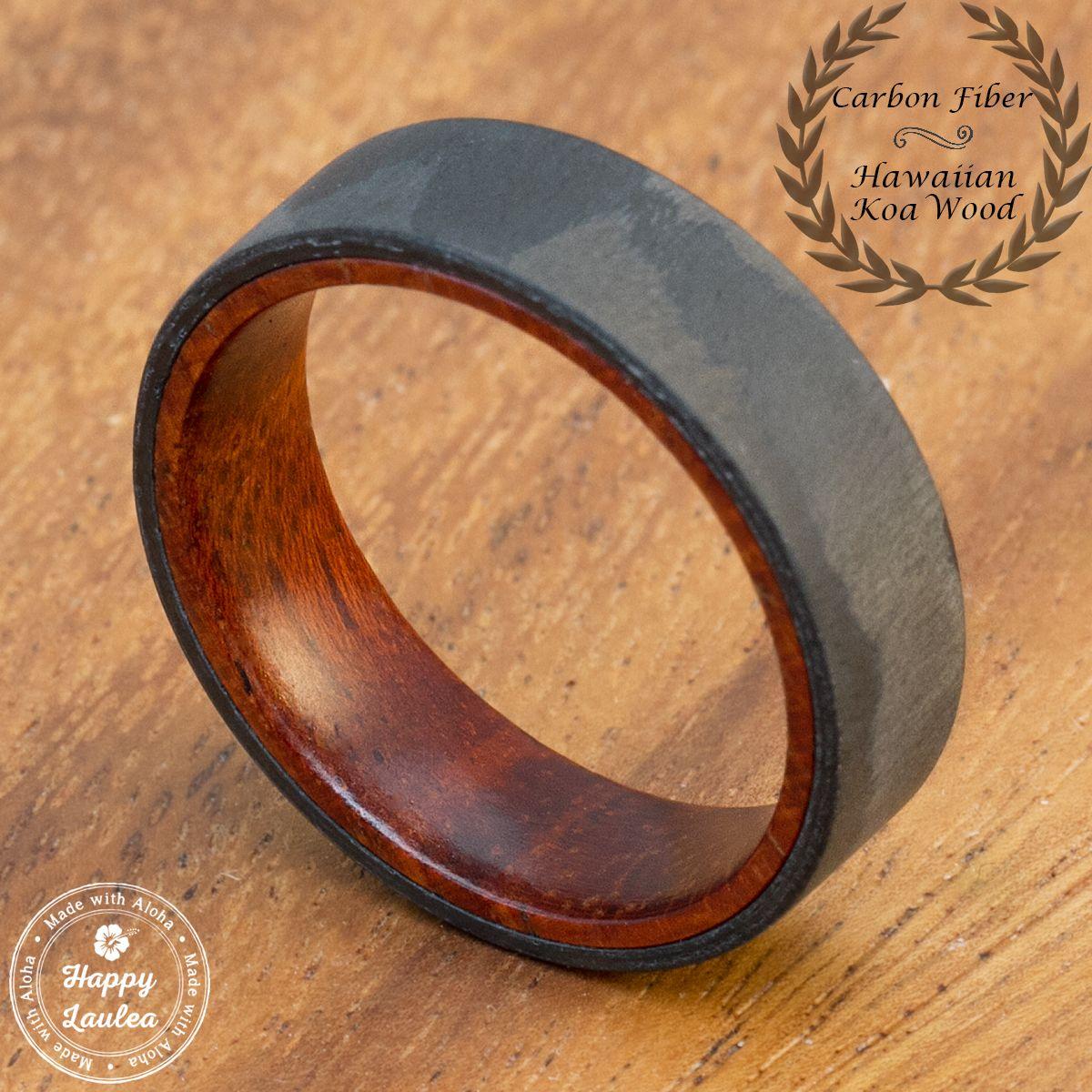 Buy A Custom Carbon Fiber Ring With Inside Hawaiian Koa