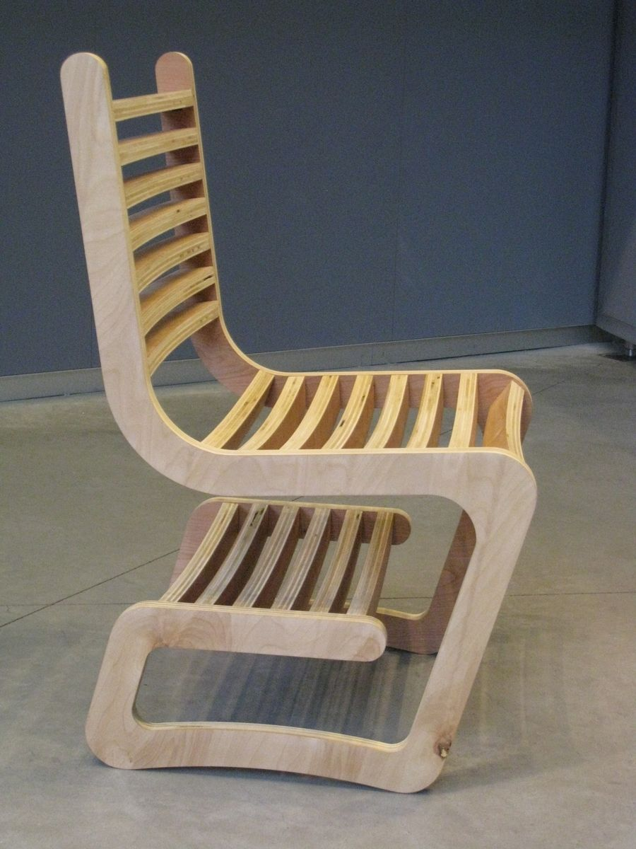 Custom Desk Chair With Integrated Shelf By Riverside Wood