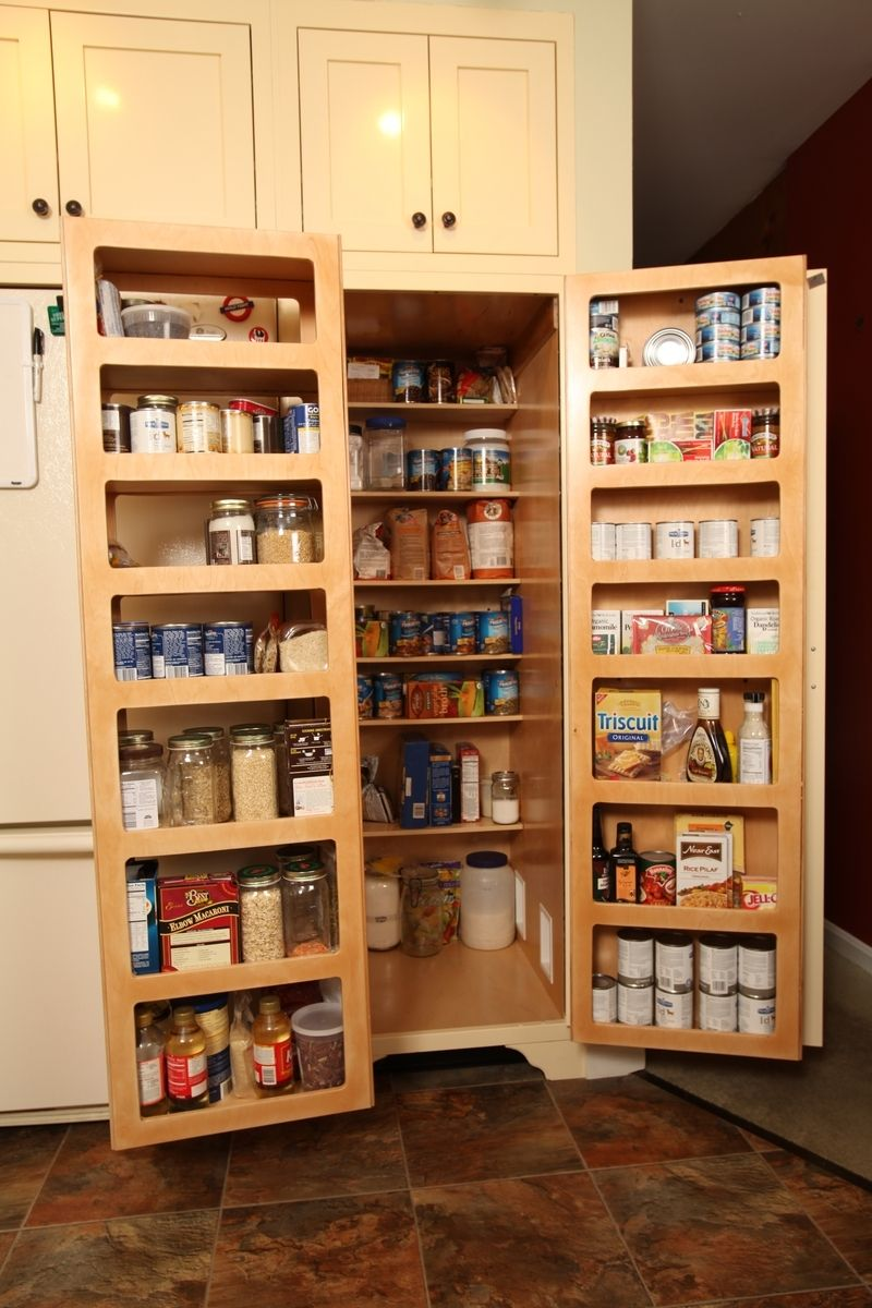 Hand Made Kitchen Pantry Double Fold Out Doors By Homecoming Woodworks