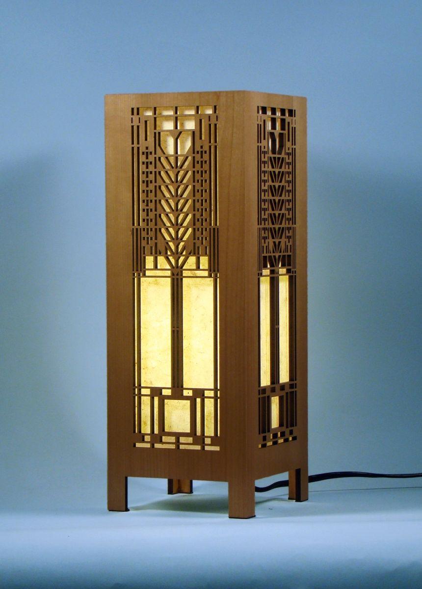 Hand Made Frank Lloyd Wright Lightbox By Lightwave Laser