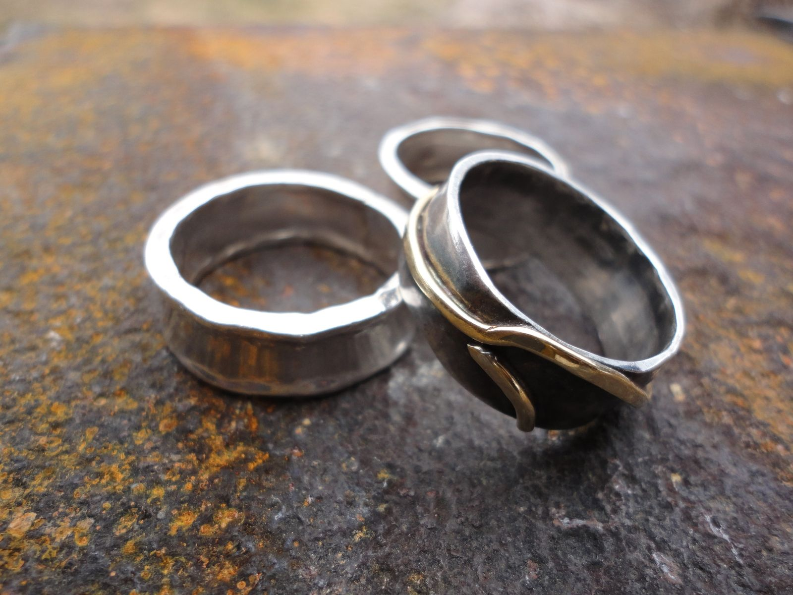 Hand Crafted Forged Rings By The Black Toad Forge