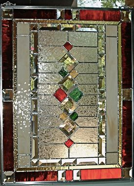 Custom Made Traditional Stained Glass WindowPanel By Glassmagic Studios