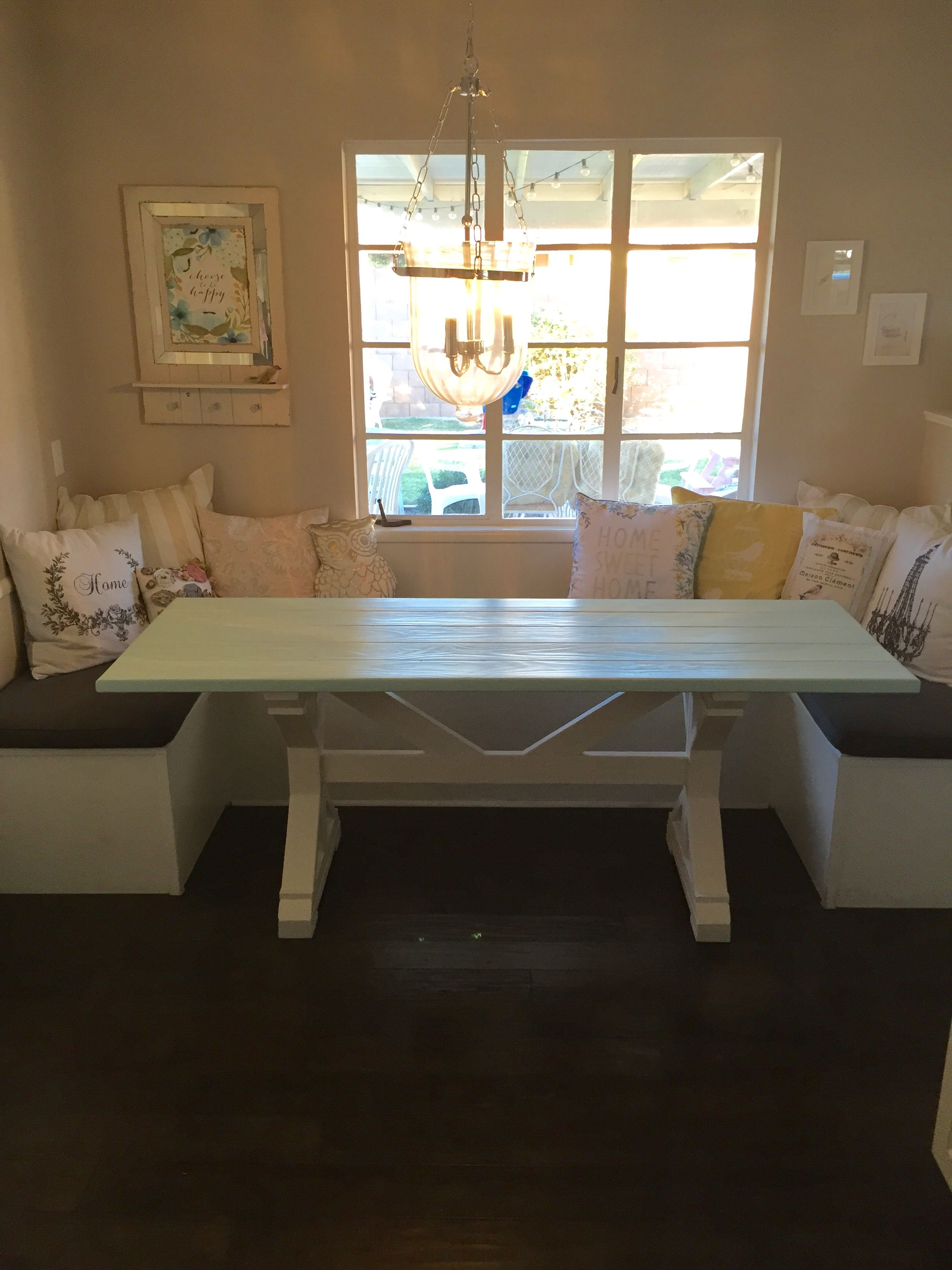 Hand Made 27x77 Farmhouse Table For Breakfast Nook By