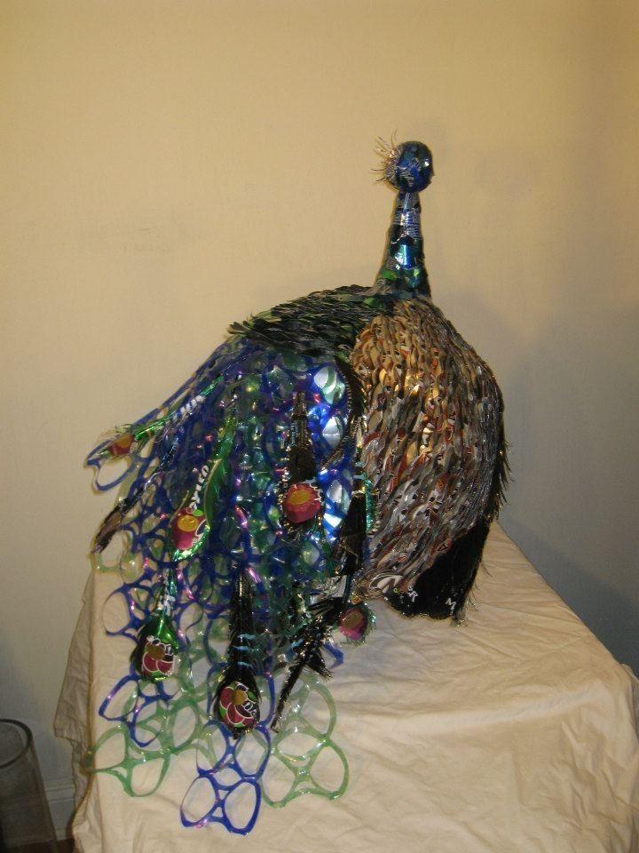 Handmade Recycled Aluminum Soda Can Peacock By NatsoArt