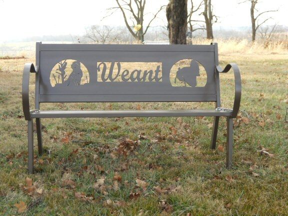 Custom Personalized Steel Bench By Hooper Hill Custom