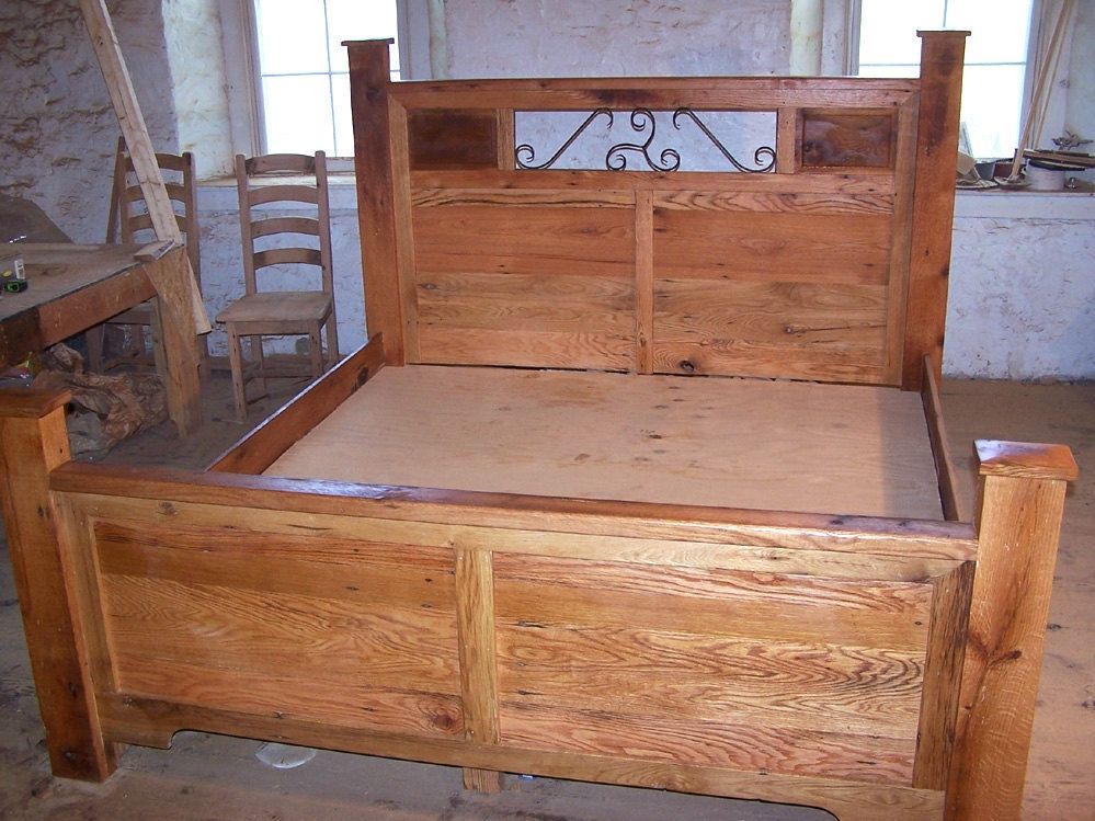 Buy A Hand Crafted Reclaimed Wood And Hand Forged Wrought