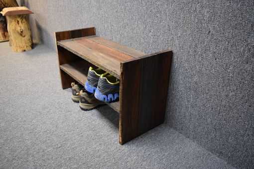 buy hand made barn wood shoe rack made