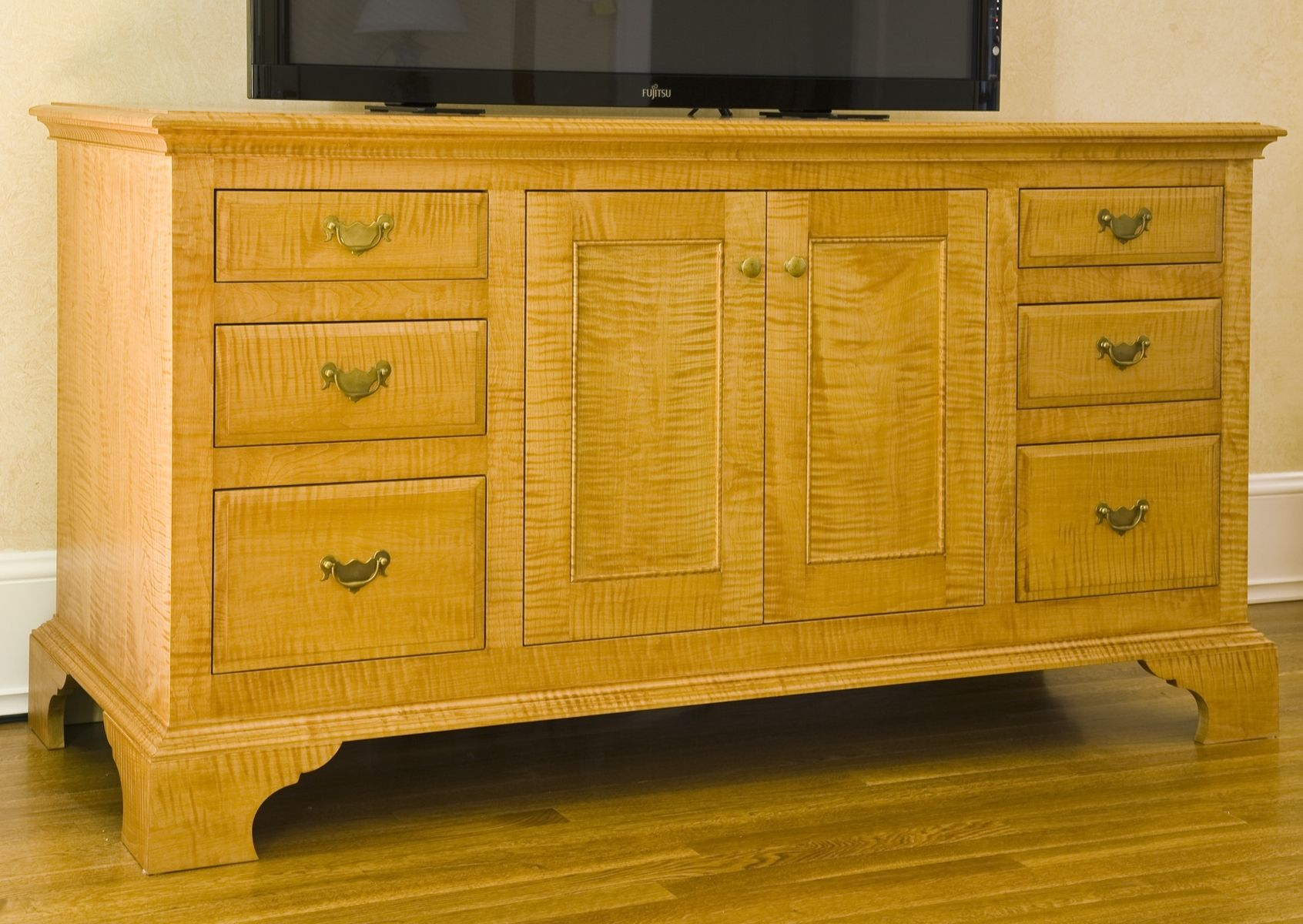 Handmade Curly Maple Cabinet by Eidolon Designs ... on Maple Cabinets  id=18641