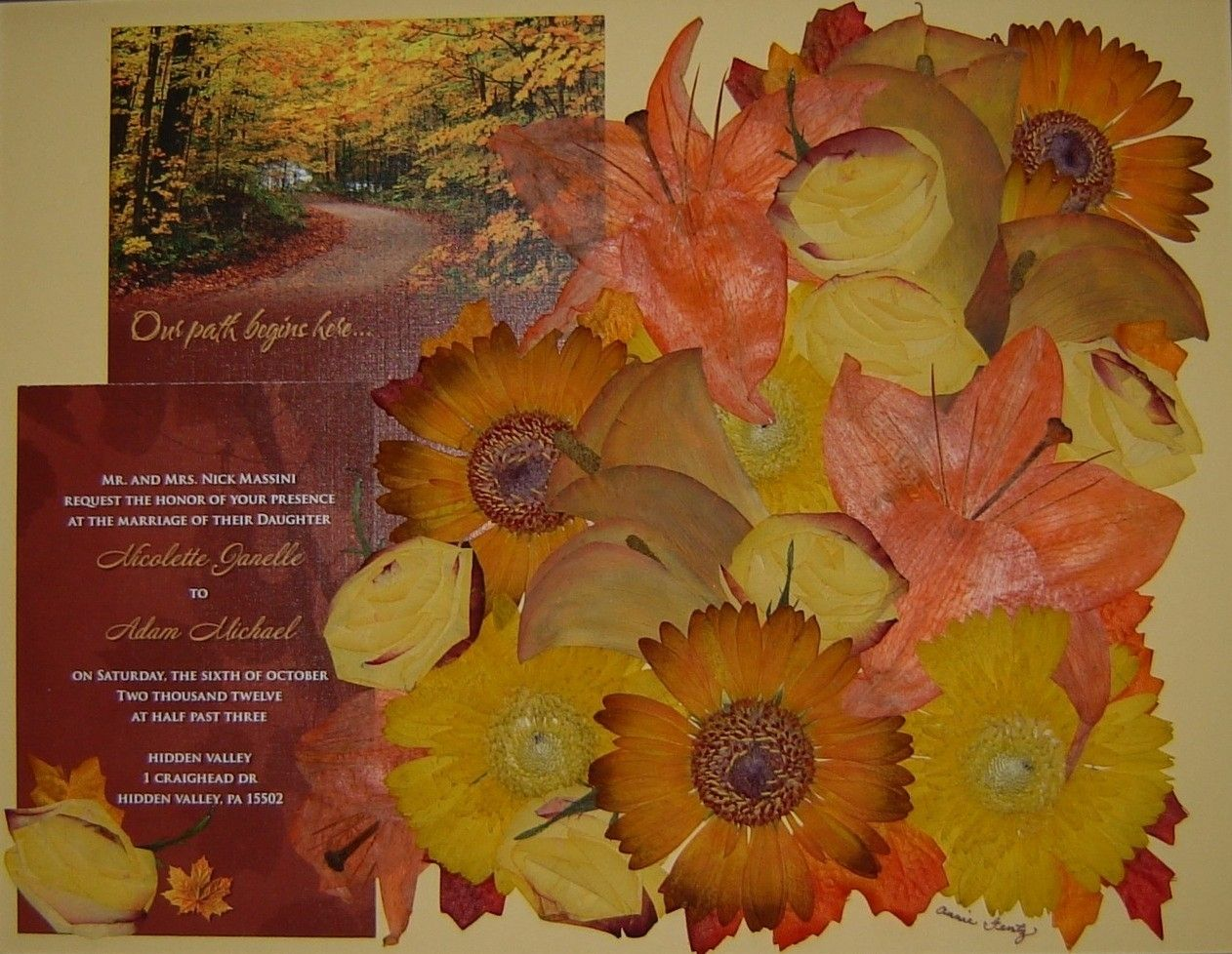 Hand Crafted Pressed Flower Art