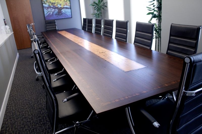 Custom Made 18 Long Conference Table By Syd
