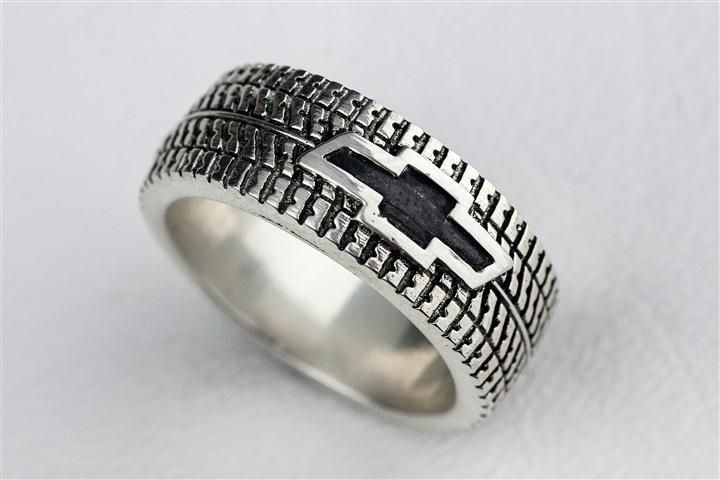 Hand Made Tire Tread Ring By Rock My World Inc