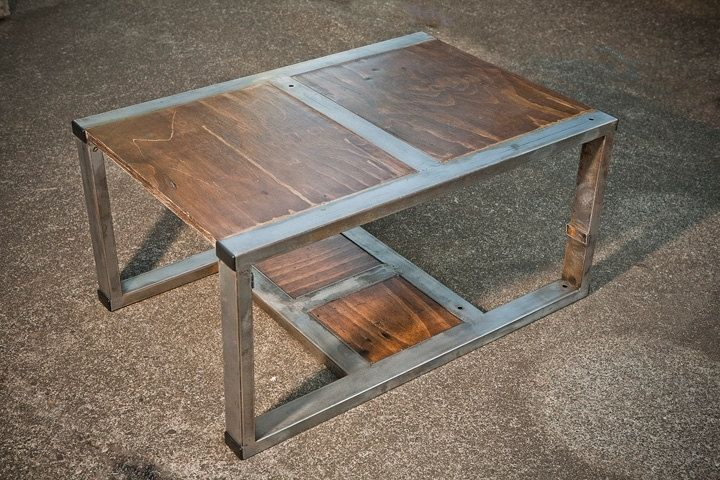 rustic contemporary coffee table made