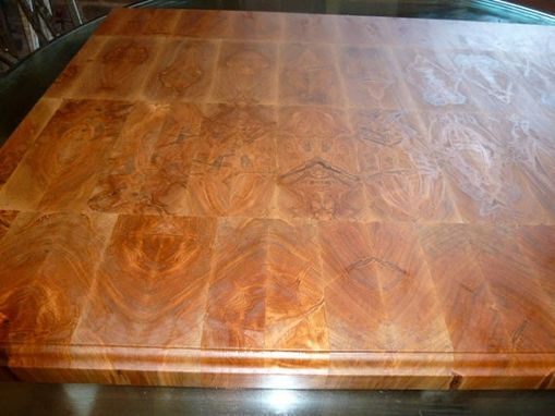 Hand Crafted Ambrosia Maple Butcher Block Island Top By