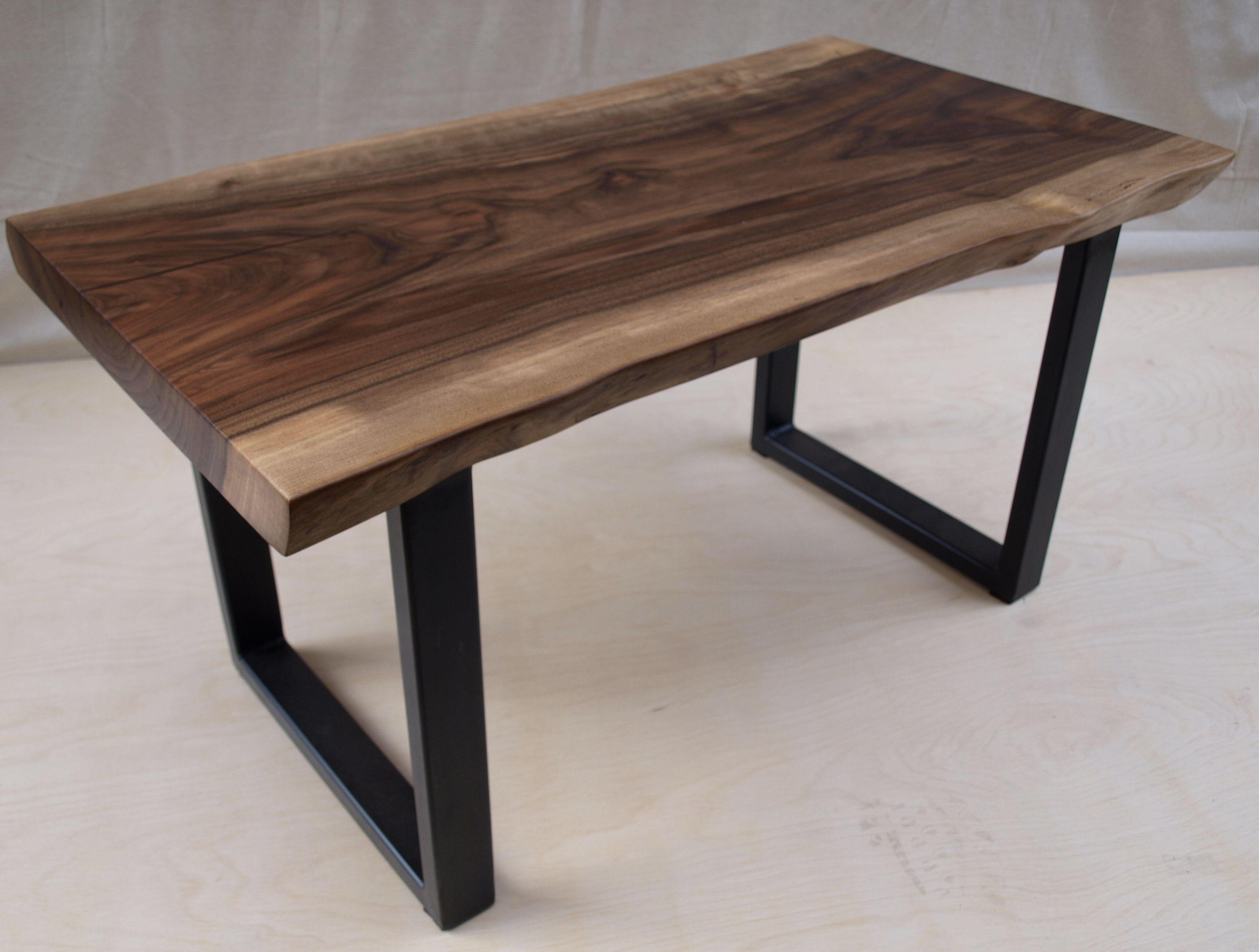 buy custom live edge walnut bench or