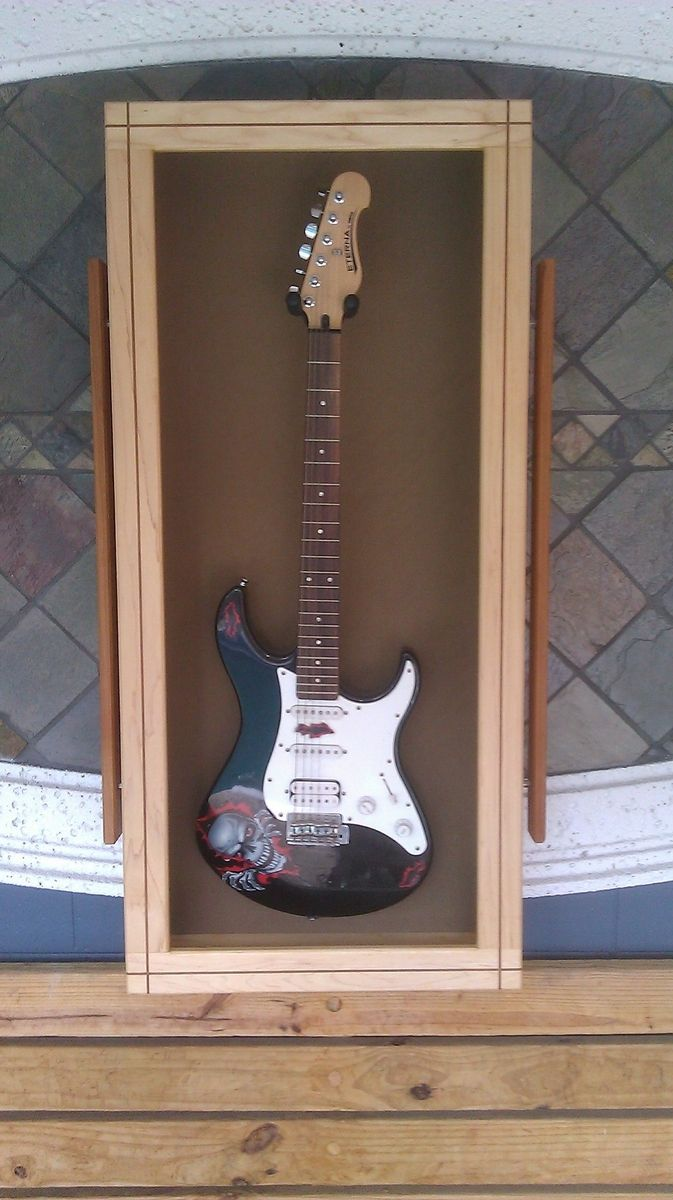 Hand Made Maple And Cherry Inlay Guitar Display Case By M
