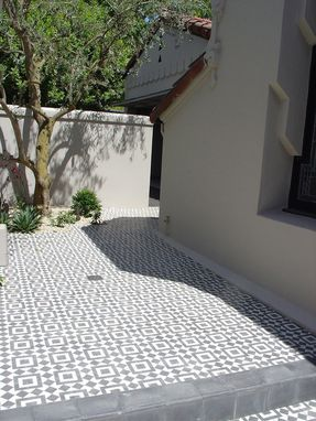 Hand Crafted Fez Black And White Cement Tile Patio By