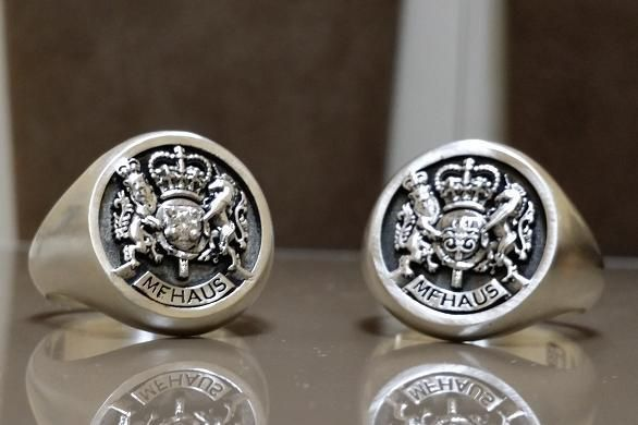 Custom Royal Crest Ring By 3dheraldry