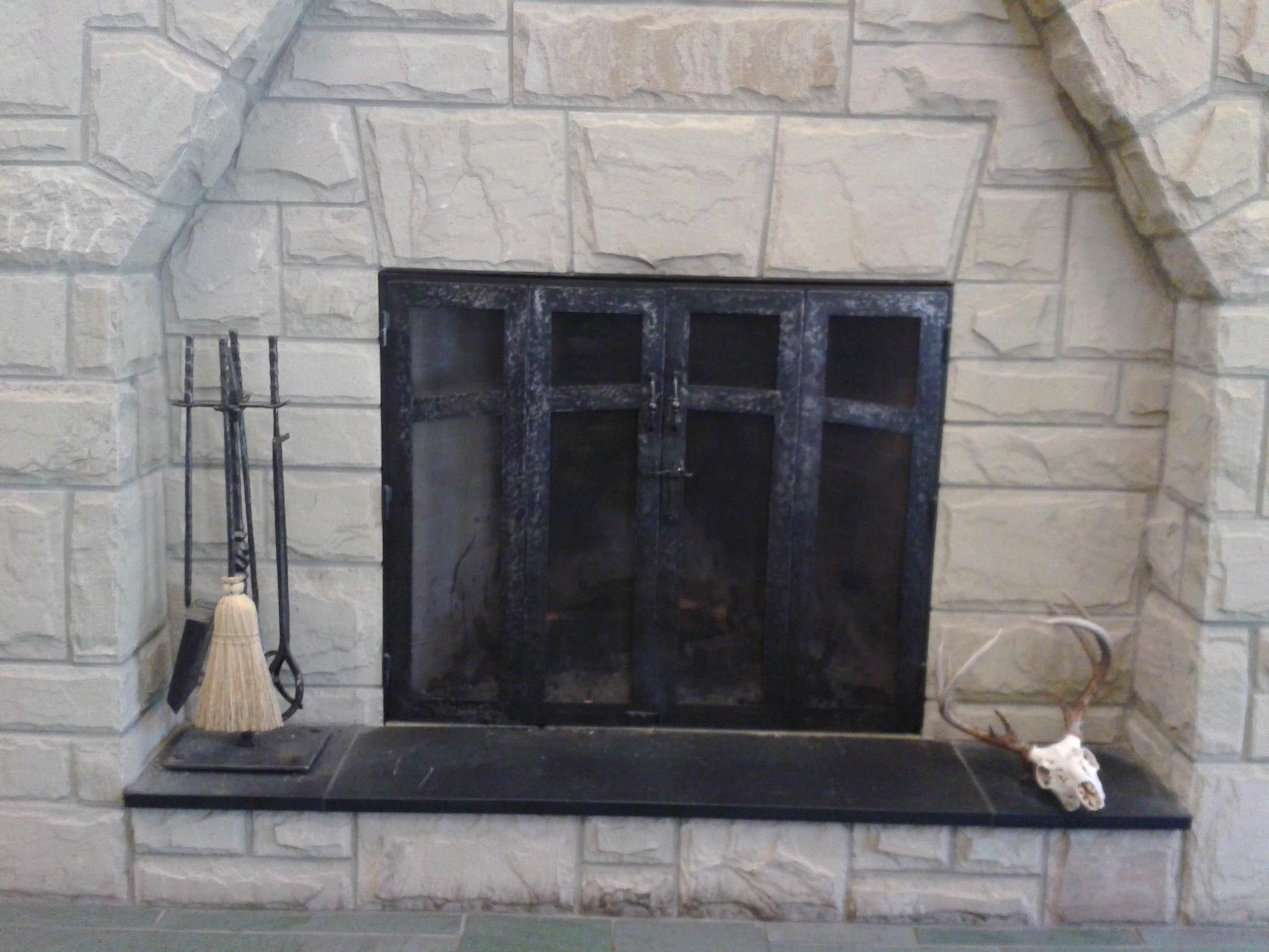 Hand Crafted Custom Fireplace Screen And Fireplace Tools