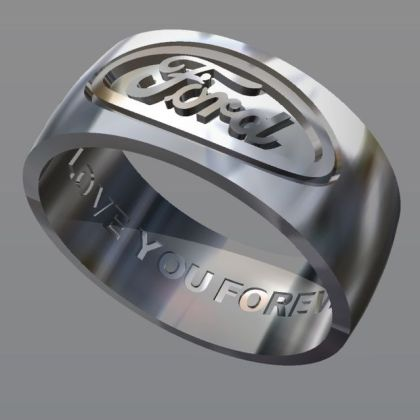 Ford Ring Custom Wedding Band Buy a Hand Crafted Ford Ring Custom Wedding Band  made to order from JG  Creations Inc   CustomMade com