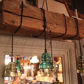 Reclaimed Wood Beam Chandelier