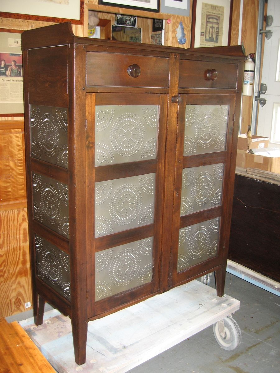 Handmade Pie Safe Restoration By Custom Woodworking
