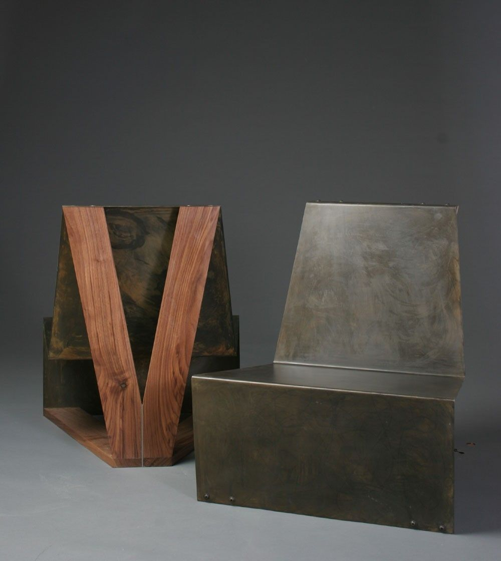 Custom Made Sheet Metal Lounge Chairs By Westside