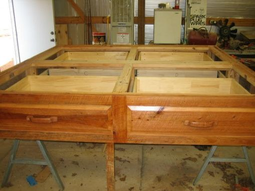 Custom Platform Bed Rustic Cypress Wood By Rockytop Woodworks