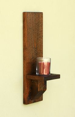 Buy a Hand Made Rustic Wood Wall Sconces, Candle Sconces ... on Wood Wall Sconces id=27330
