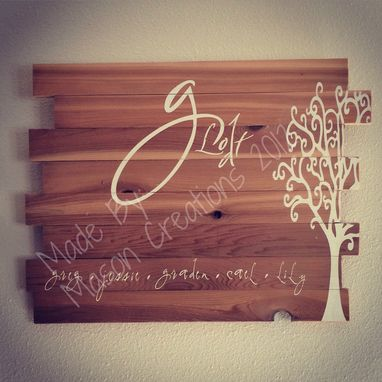 Custom 24x20 Cedar Multi Board Rustic Sign Made To Order