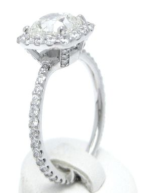 Hand Made Cushion Cut Inspired Diamond Engagement Ring By