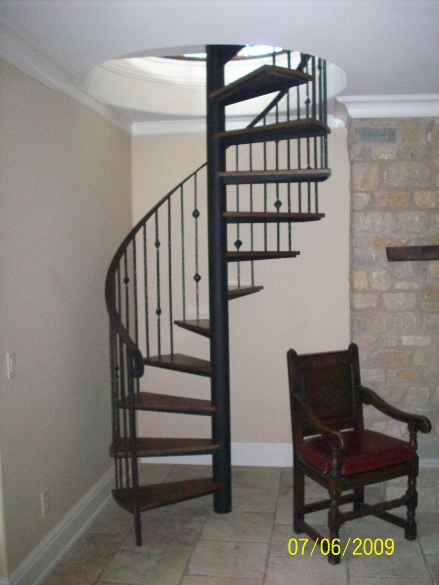 Hand Crafted Spiral Stair By The Forge At Cedar Hill